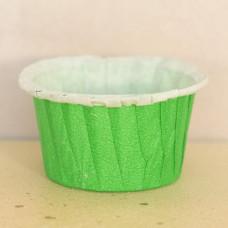 Форма бумажная одноразовая для маффинов 50/40 тёмно-зелёная