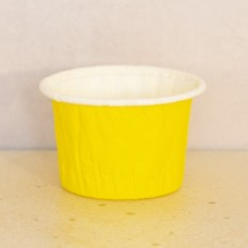 Форма бумажная одноразовая для маффинов 50/40 жёлтая