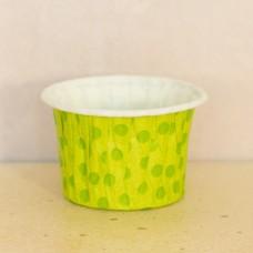 Форма бумажная одноразовая для маффинов 50/40 зелёная/зелёный горох