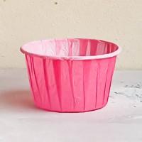 Форма бумажная одноразовая для маффинов 50/40 розовая