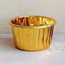 Форма бумажная одноразовая для маффинов 50/40 золото