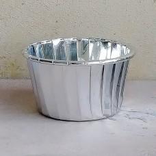 Форма бумажная одноразовая для маффинов 50/40 серебро