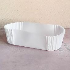 Капсула бумажная для эклеров 28*78*25 белая, 50 шт.