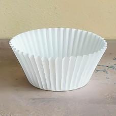 Капсула бумажная для выпечки 50*30 белая, 100 шт.