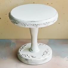 Подставка-тортовница, D 20 см., состаренный белый