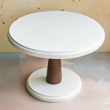 Подставка-тортовница, D 26 см., белый/коричневый
