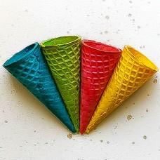 Рожок вафельный 110 цветной