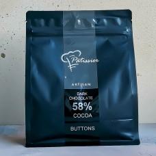 Шоколад Patissier тёмный 58%, 500 гр.