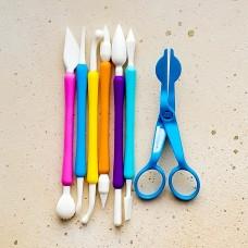 Набор инструментов для мастики и марципана, 7 предметов