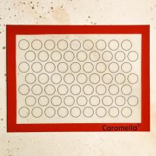 Коврик армированный для макаронс 40*30 см. (малые круги)