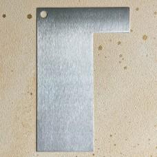 Шпатель угловой металлический, 19 см.