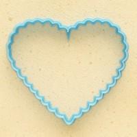 """Форма-вырубка для печенья и пряников """"Ажурное сердце"""""""