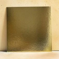 Подложка усиленная золото/жемчуг 22*22 см. 1,5 мм.