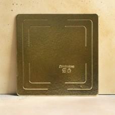 Подложка усиленная золото 30*30 см. 2,5 мм.