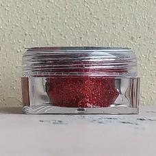 Глиттер пищевой Caramella мелкий красный, 5 гр.
