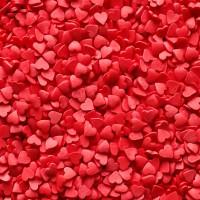 """Посыпки фигурные """"Сердечки"""" красные (мини), 100 гр."""