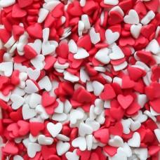 "Посыпки фигурные ""Сердечки"" красно-белые, 100 гр."