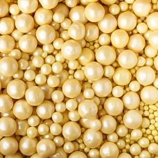 Драже рисовое (жемчуг), жёлтый перламутр, 500 гр.