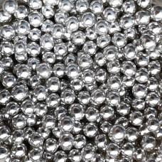 Шарики сахарные серебро, 4 мм.