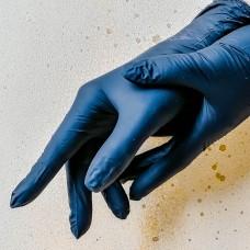 Перчатки нитриловые чёрные, размер L