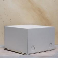 Короб картонный для торта белый 210*210*100 мм Хром-Эрзац