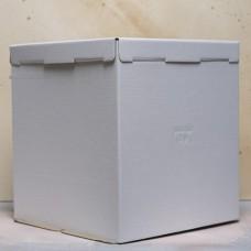 Короб картонный для торта белый 420*420*300 мм