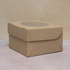 Упаковка ECO MUF 4 с окном под 4 капкейка