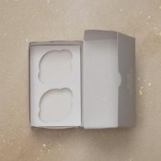 Короб картонный под 2 капкейка Pasticciere