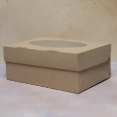 Упаковка ECO MUF 6 с окном под 6 капкейков