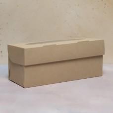 Упаковка ECO MUF 3 с окном под 3 капкейка