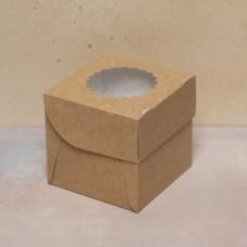 Упаковка ECO MUF 1 с окном под 1 капкейк