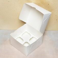 Короб под 4 капкейка, белый