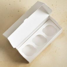 Короб под 3 капкейка, белый