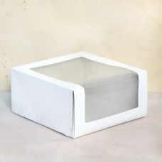 Короб для торта с окном 225*225*110 мм.