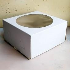 Короб для торта хром-эрзац 240*240*120 мм.