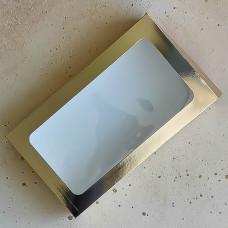 Коробка для эклеров, 240*140*50 мм., золотая