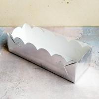 Коробка для макаронс 190*55*55 мм., серебро