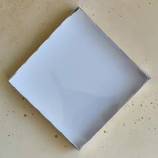 Коробка для пряников и печенья, 200*200*35 мм., золотая