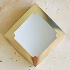 Коробка для зефира, 200*200*70 мм., золотая