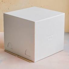 Короб для торта белый 240*240*220 мм.