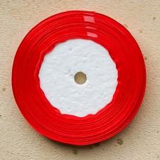 Лента атласная широкая красная, 30 м.
