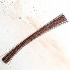 Проволока флористическая 36 см., №20 коричневая