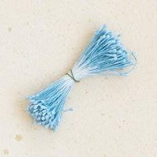 Тычинки «Японский дизайн» круглые 2 мм. серо-голубые