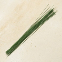 Проволока флористическая 36 см., № 18 зелёная