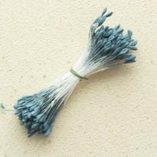 Тычинки «Японский дизайн» с ложбинкой большие серо-синие