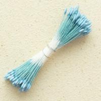 Тычинки «Японский дизайн» заострённые 1 мм. голубые